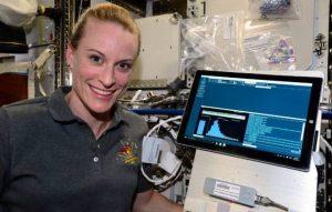 Kate Rubins,na ISS