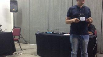 Luiz Sanches em apresentação durante o XV CBIS